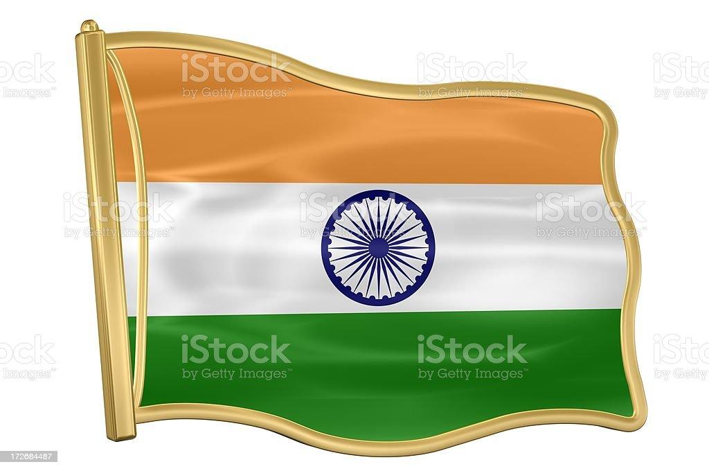 Flag Pin - India royalty-free stock photo