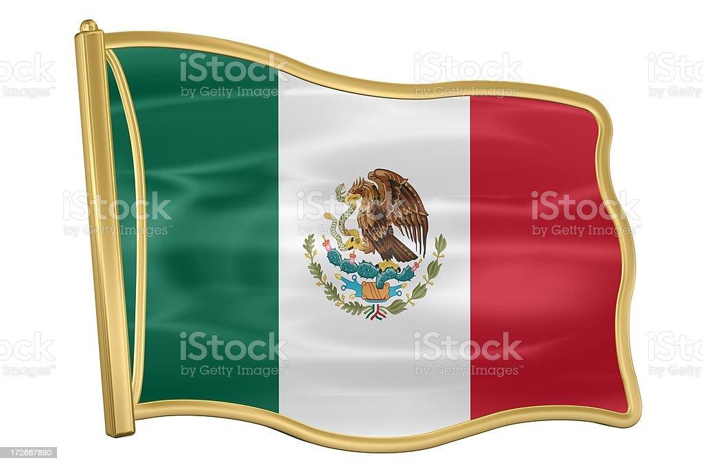 Flag Pin - Mexico royalty-free stock photo