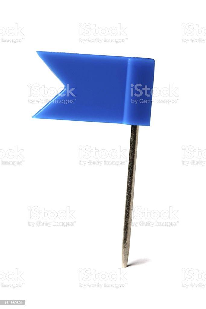 Flag pin on white royalty-free stock photo