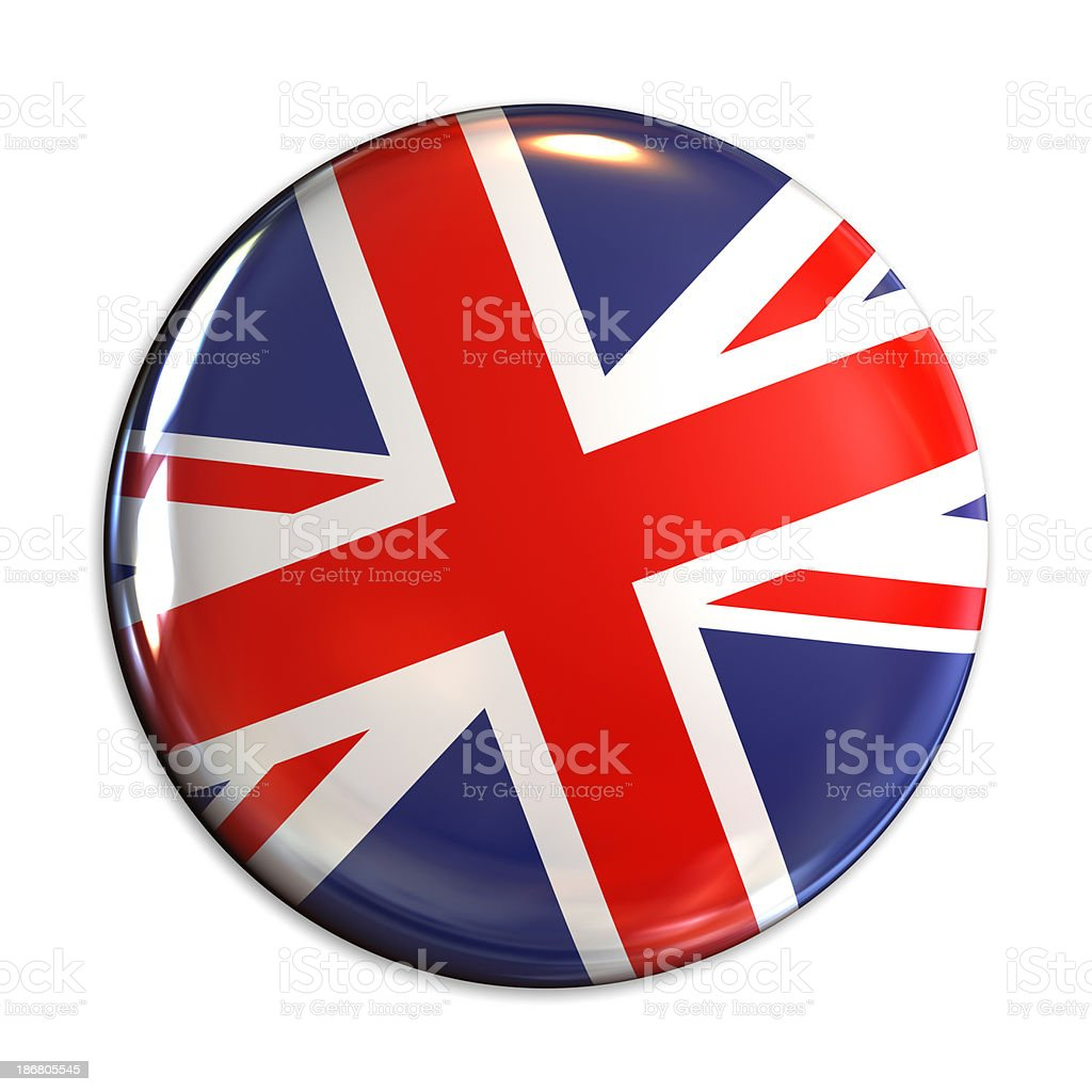 UK flag pin royalty-free stock photo