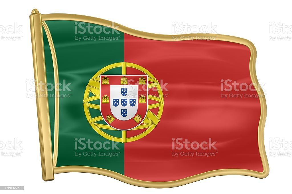 Flag Pin - Portugal royalty-free stock photo