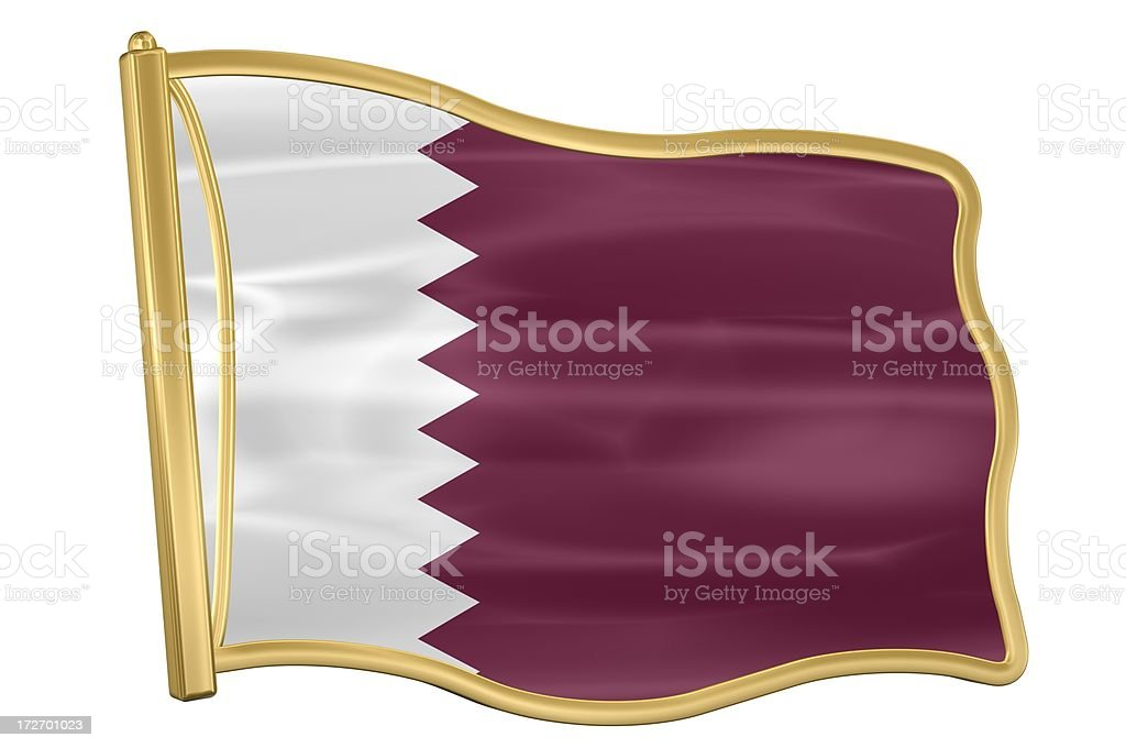 Flag Pin - Qatar stock photo
