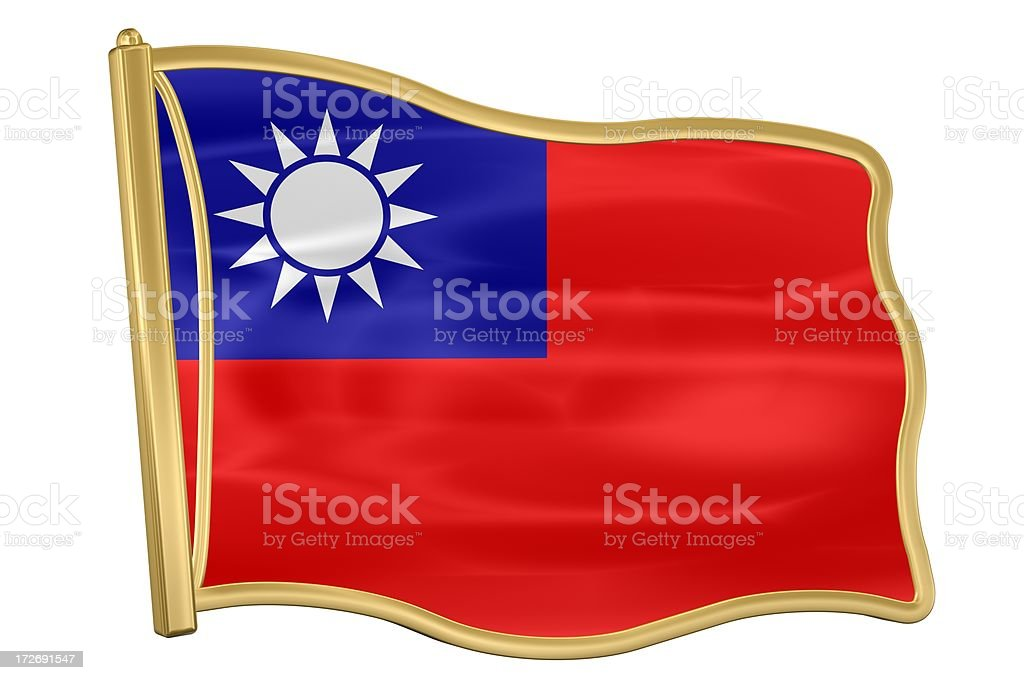 Flag Pin - Taiwan royalty-free stock photo