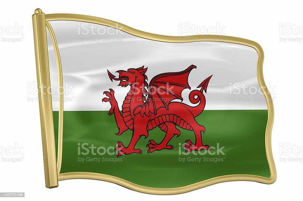 Flag Pin – Wales royalty-free stock photo