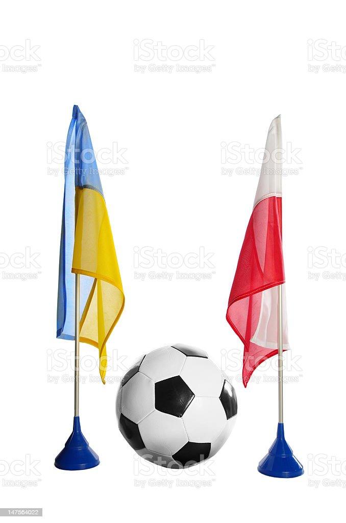 flag polish and ukraine royalty-free stock photo