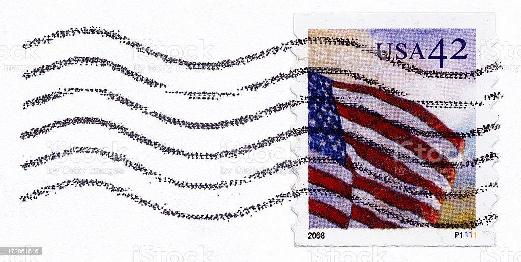 USA Flag Postage Stamp royalty-free stock photo