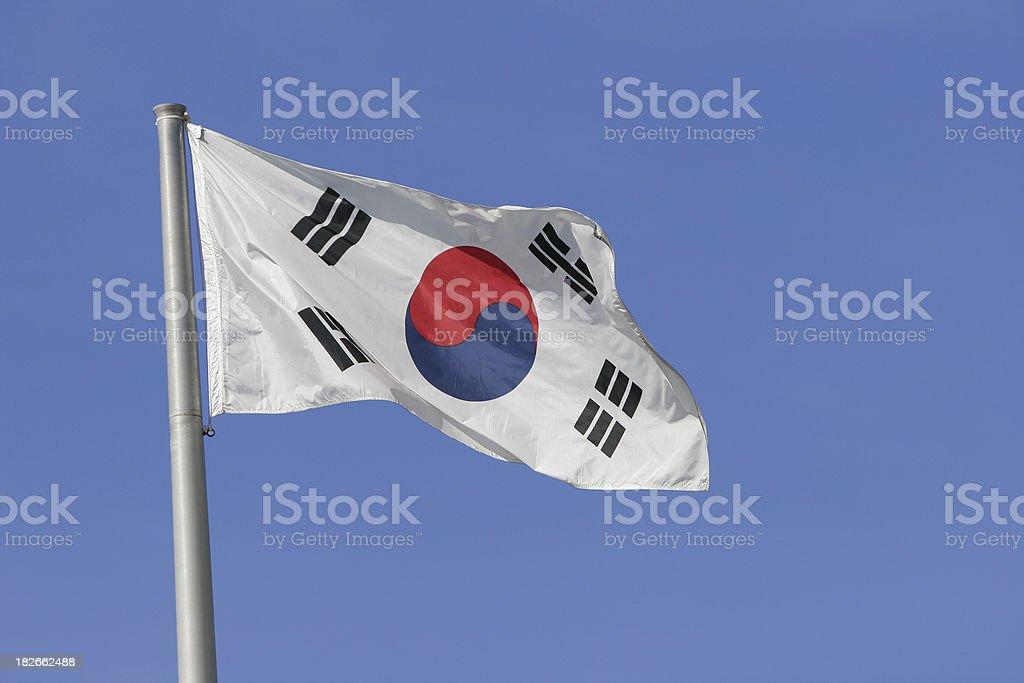 Flag: Republic of South Korea stock photo