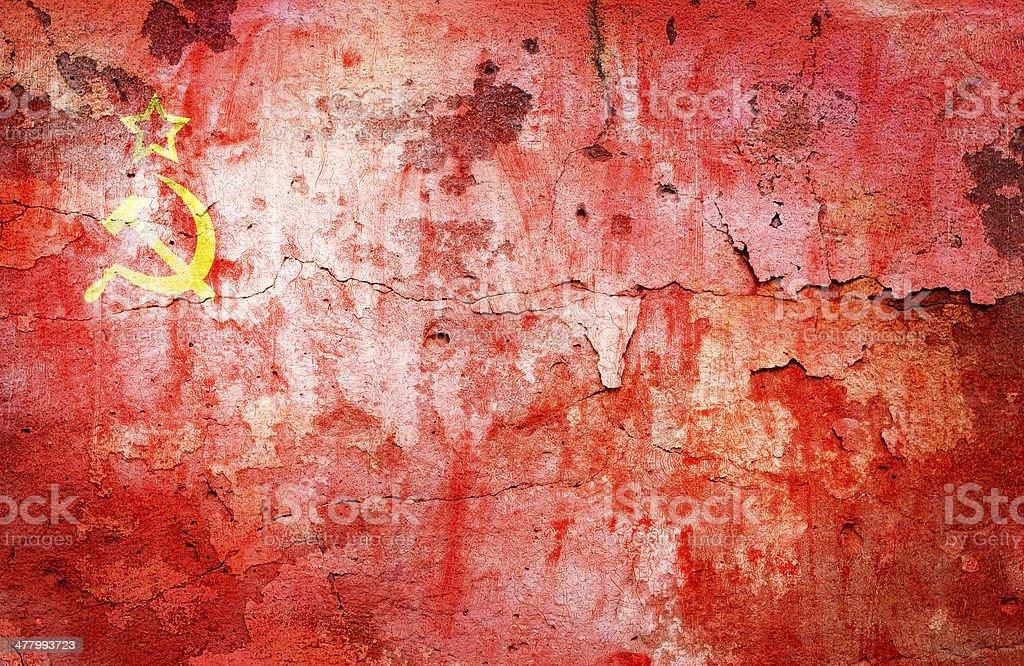 flag Soviet Union stock photo