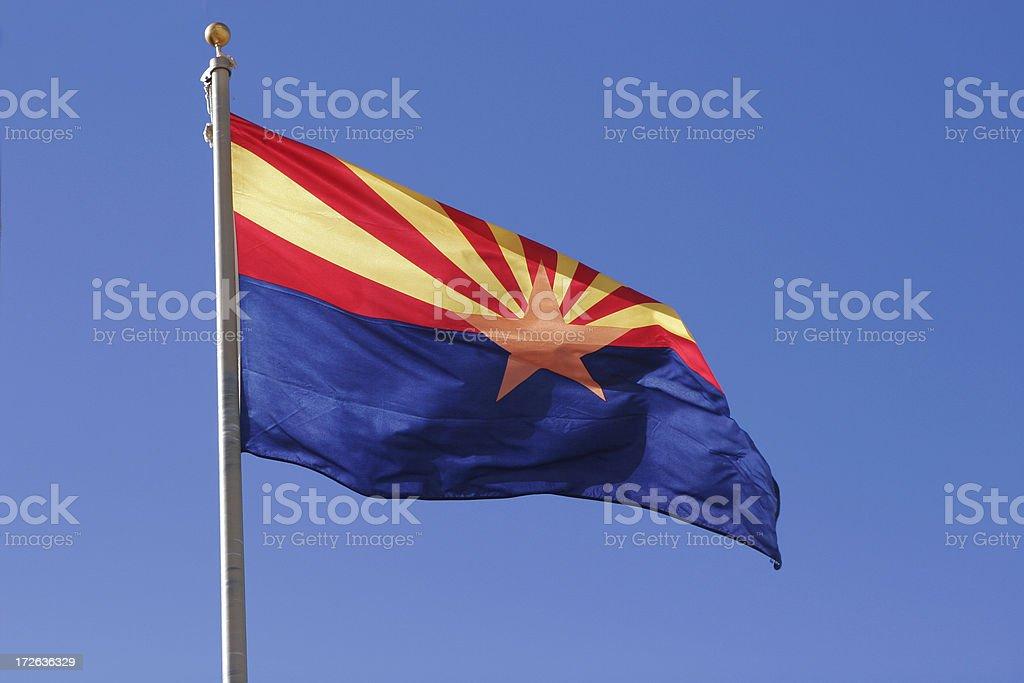 Flag: State of Arizona stock photo