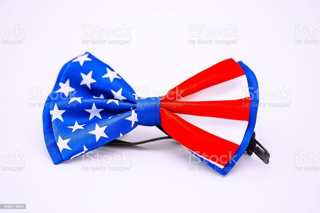 US flag tie stock photo