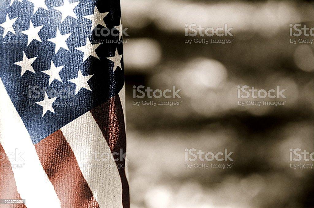 USA Flag - Toned stock photo