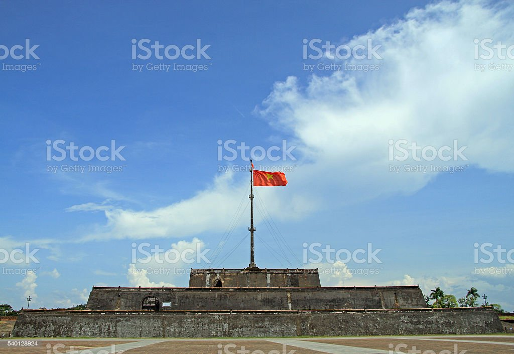 Flag Tower Inside Imperial Citadel stock photo