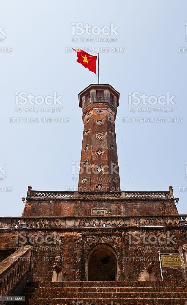 Flag Tower of Hanoi (1812, UNESCO site), Vietnam stock photo
