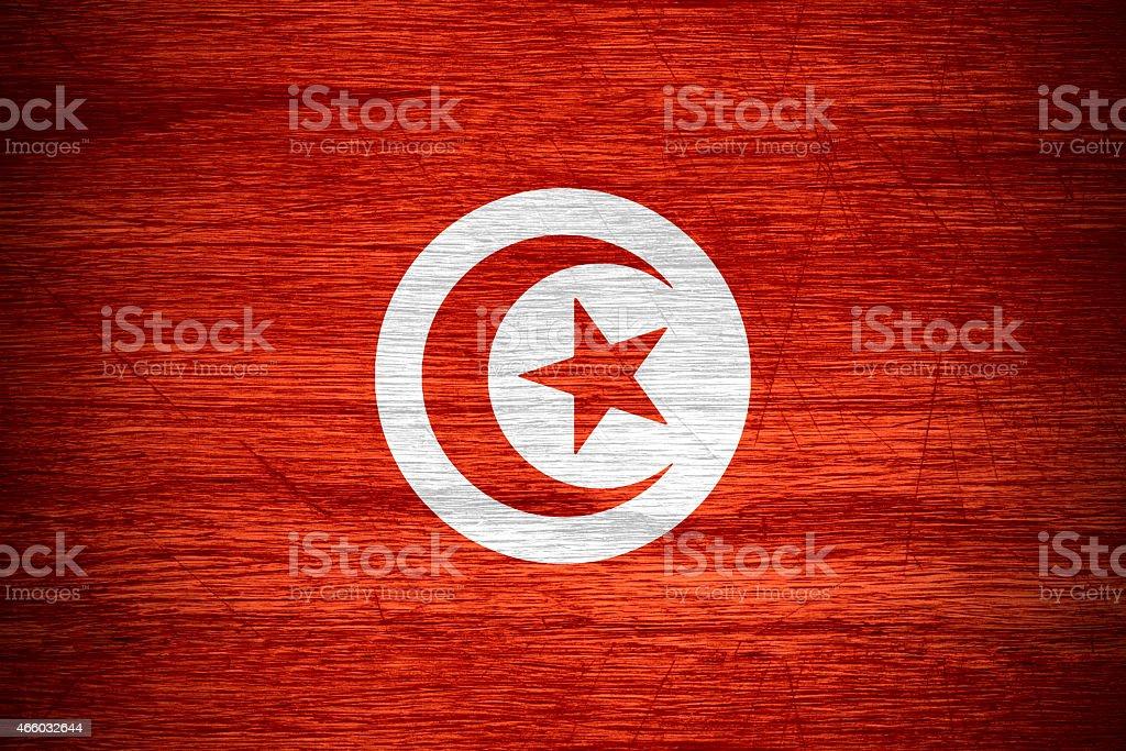 flag Tunisia stock photo