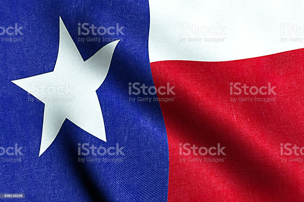 flag with blue and red color of texas stock photo