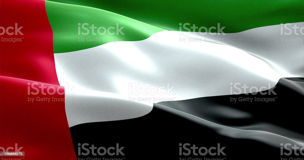 flag with color of united arab emirates stock photo