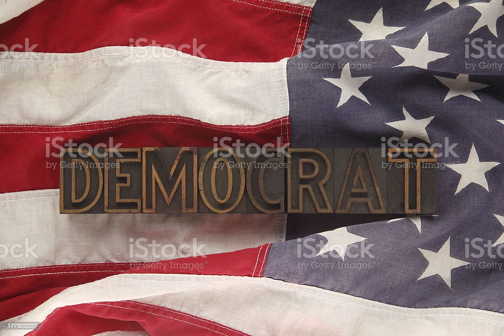 flag with democrat word royalty-free stock photo