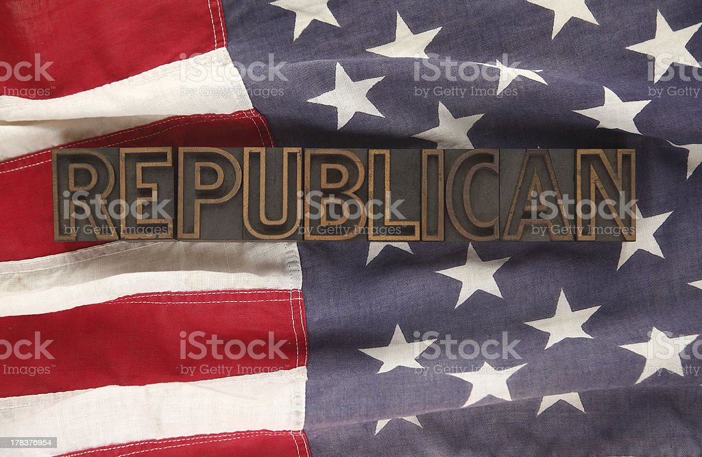 flag with republican word royalty-free stock photo