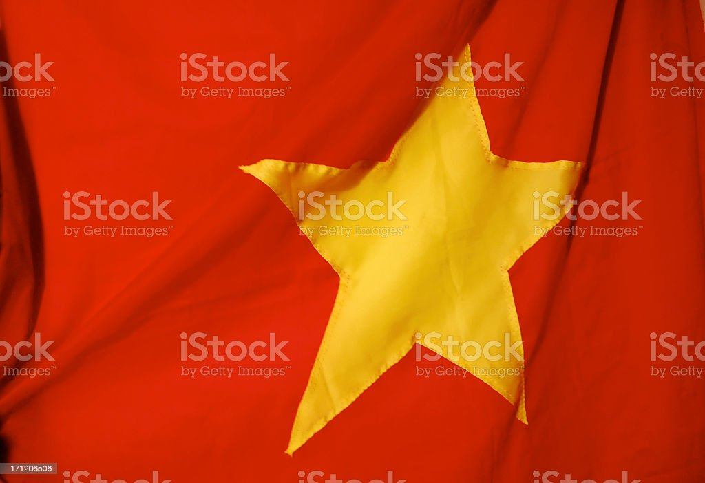 Flag: Yellow Star on Red stock photo