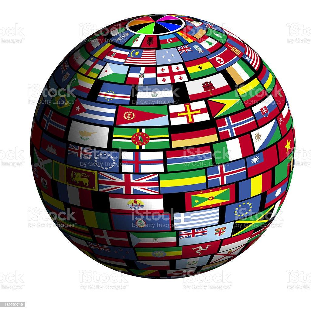 Flaga objęte ziemi-Quad3 widok zbiór zdjęć royalty-free