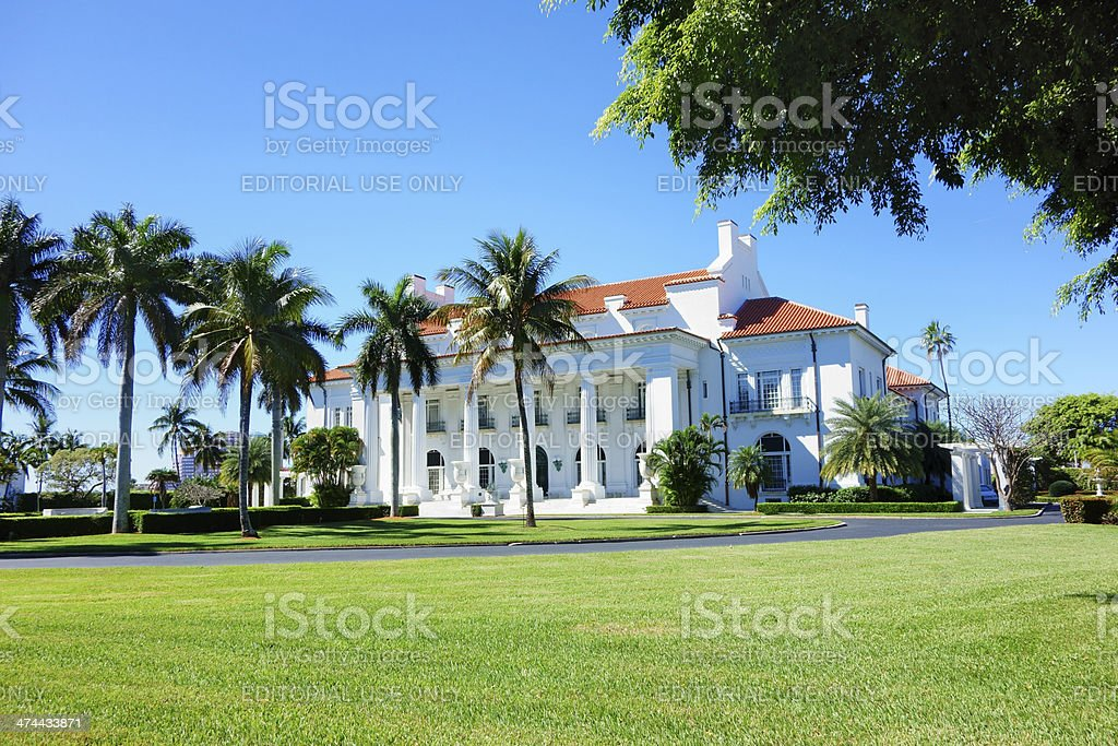 Flagler Museum, Palm Beach, Florida stock photo