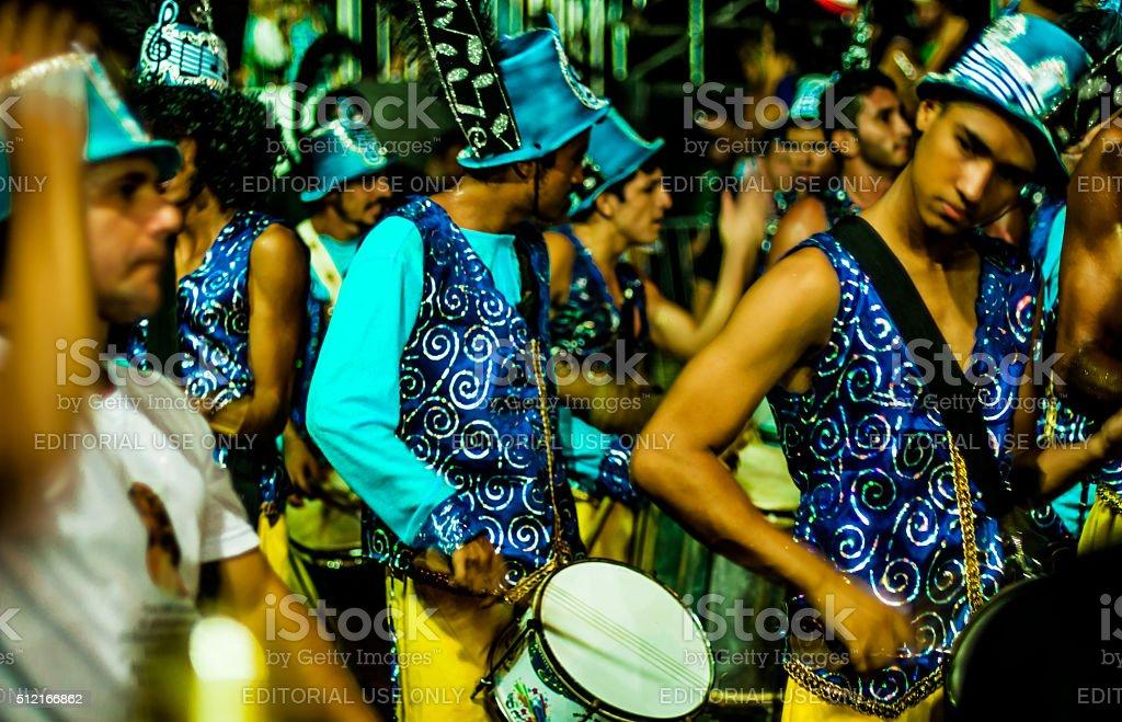 flagrant of samba school parade in the Brasilian carnival stock photo