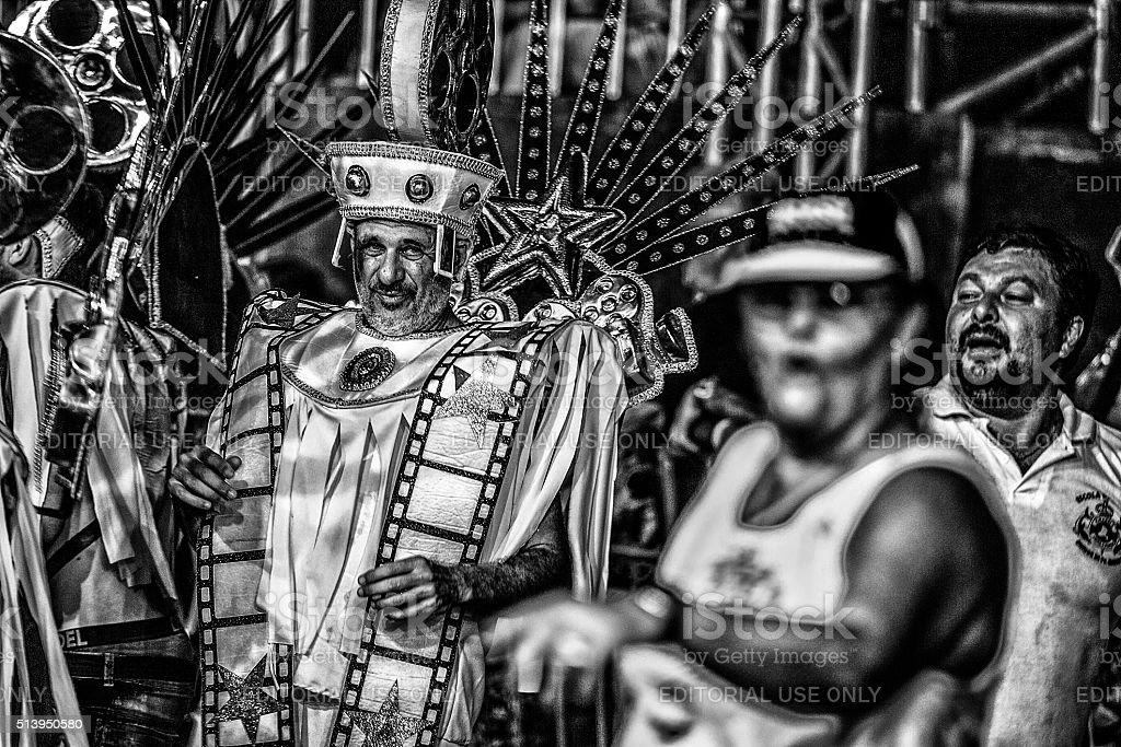 flagrant of the samba school parade in the Brasilian carnival stock photo