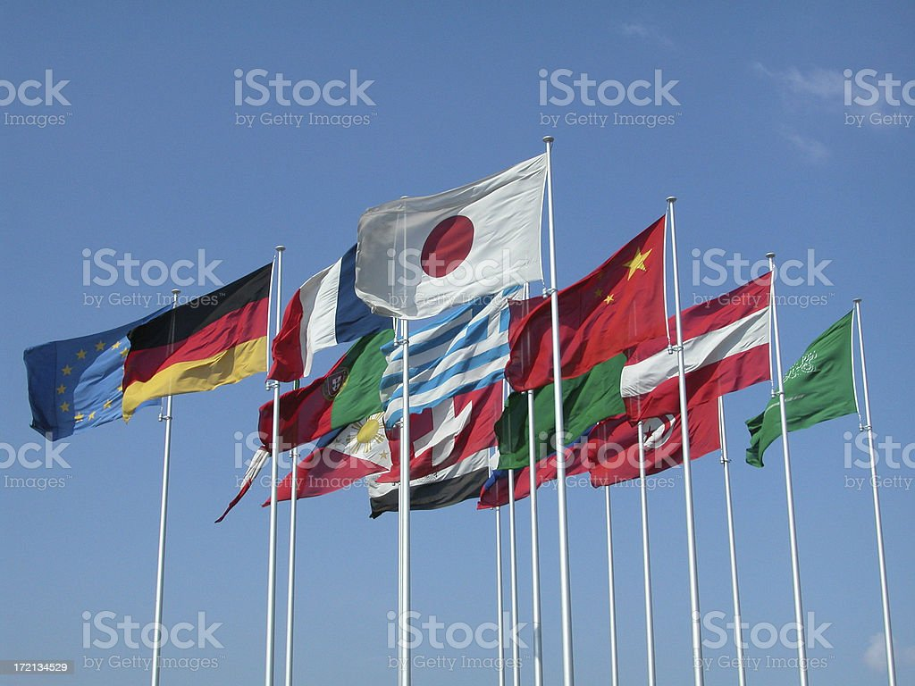 Flags 03 royalty-free stock photo