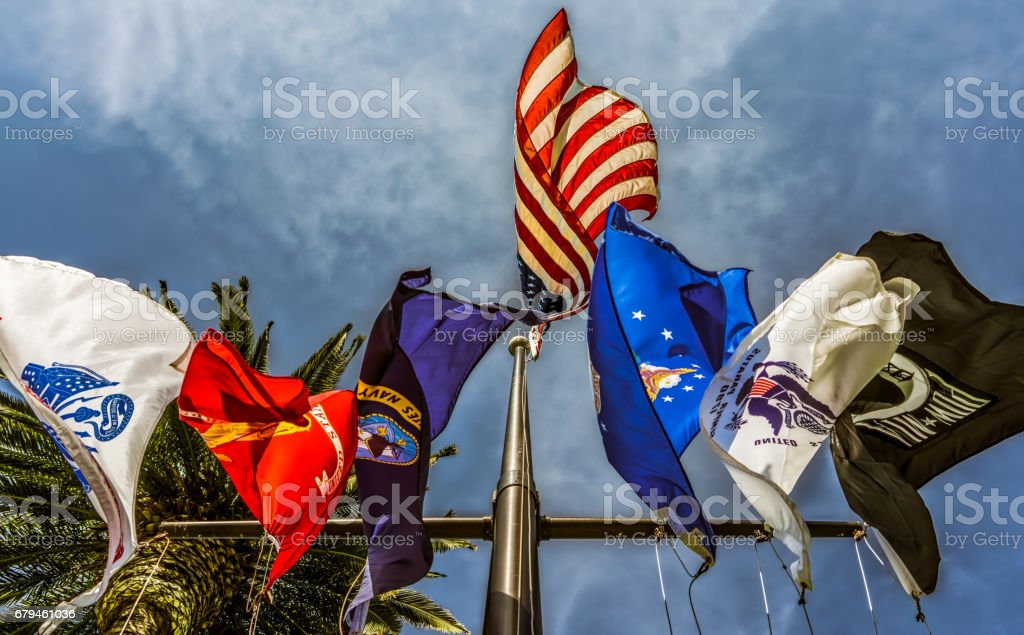 Flags 10 stock photo