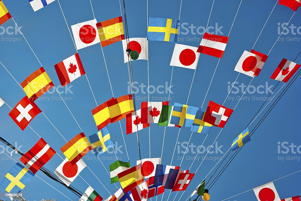 Flags and Bunting stock photo