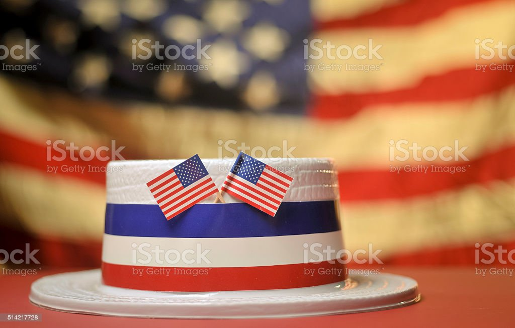 Flags and Hat stock photo
