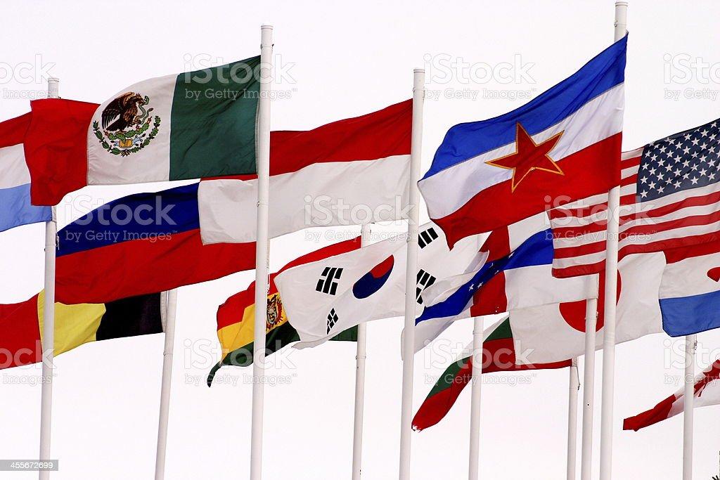 flags at COP calgary alberta royalty-free stock photo