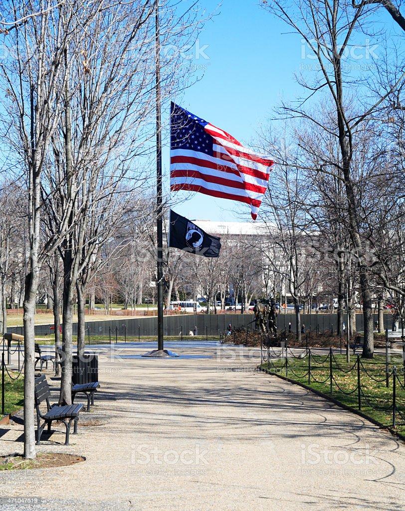 Flags at Half Mast stock photo