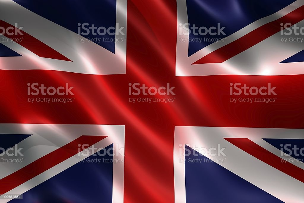 Flags, British (3D) royalty-free stock photo