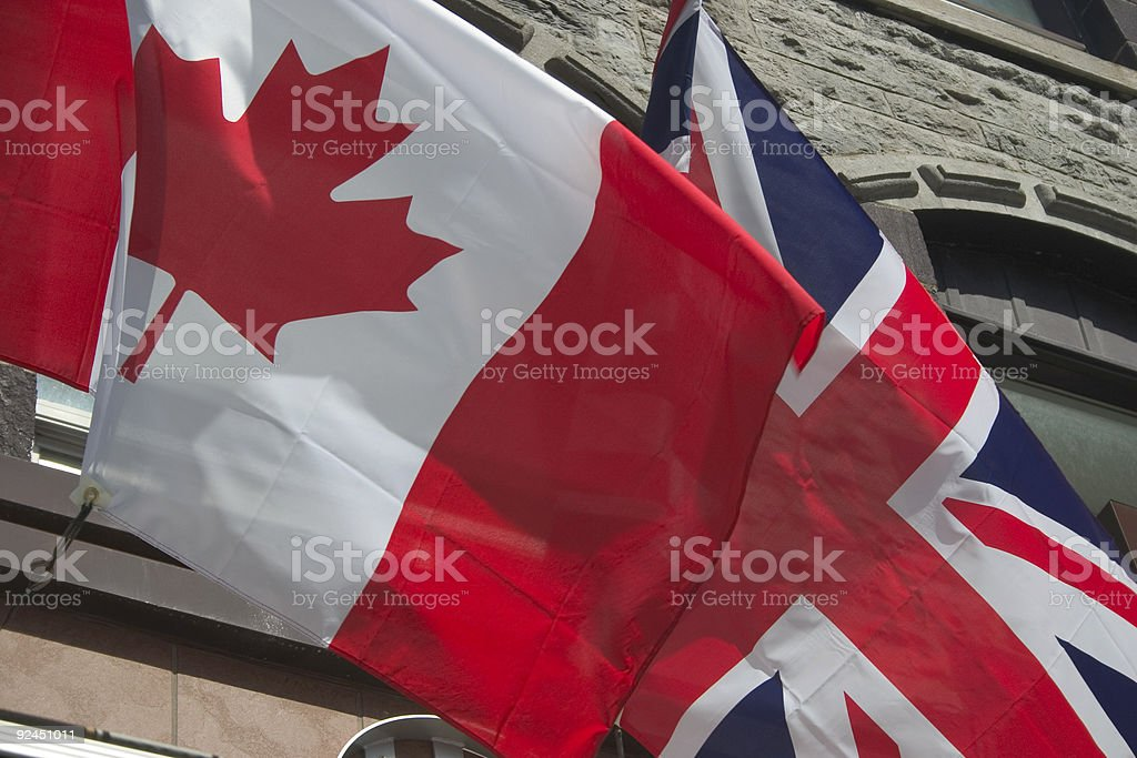 Flags, Canada - British royalty-free stock photo