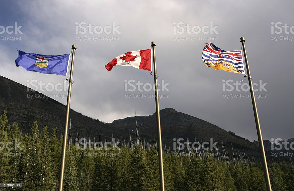 Flags - Canada provinces stock photo