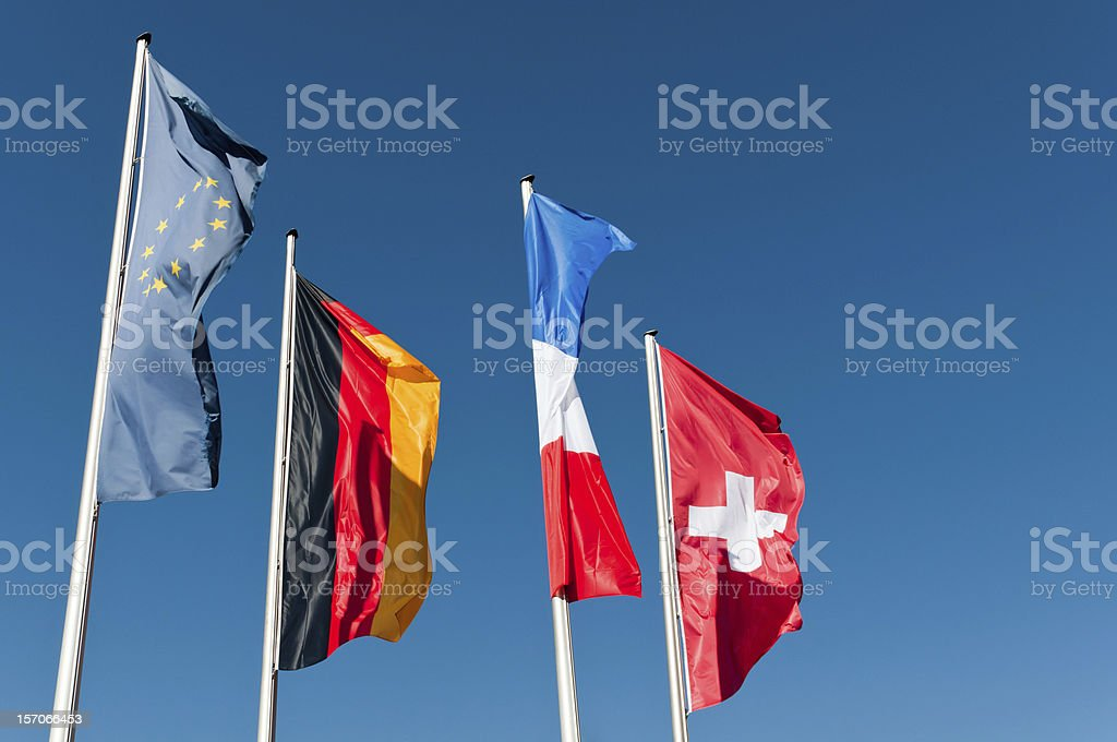 Flags Europe royalty-free stock photo