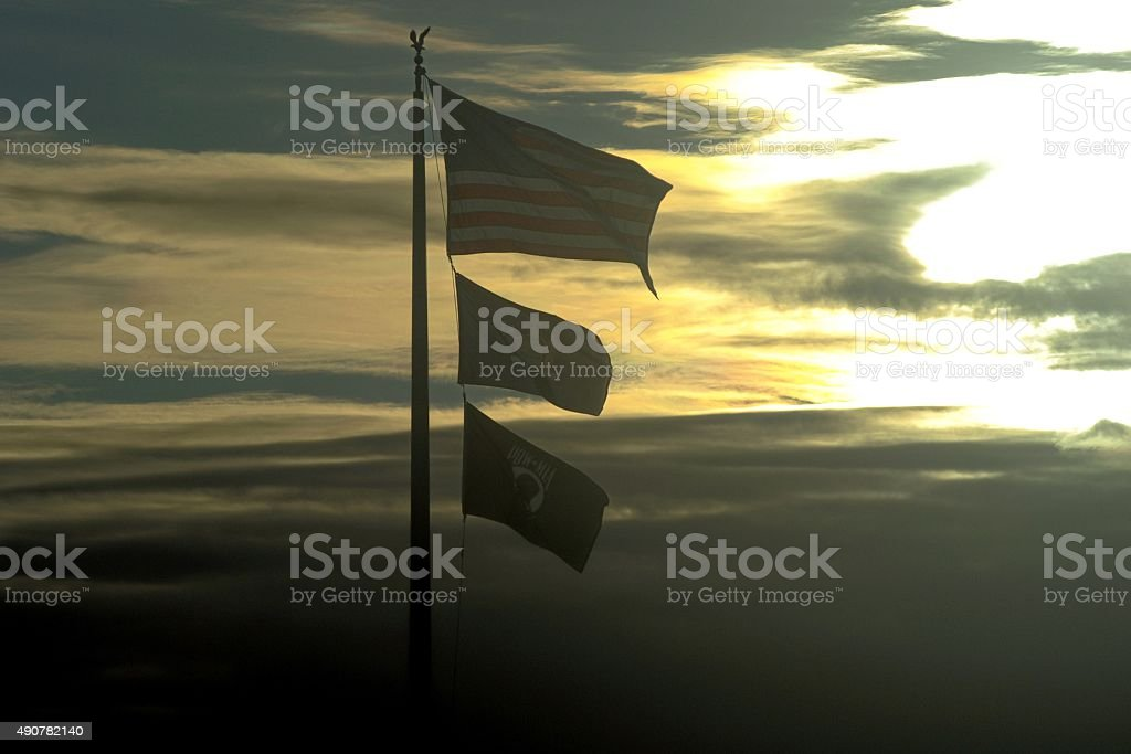 Flags Fly stock photo