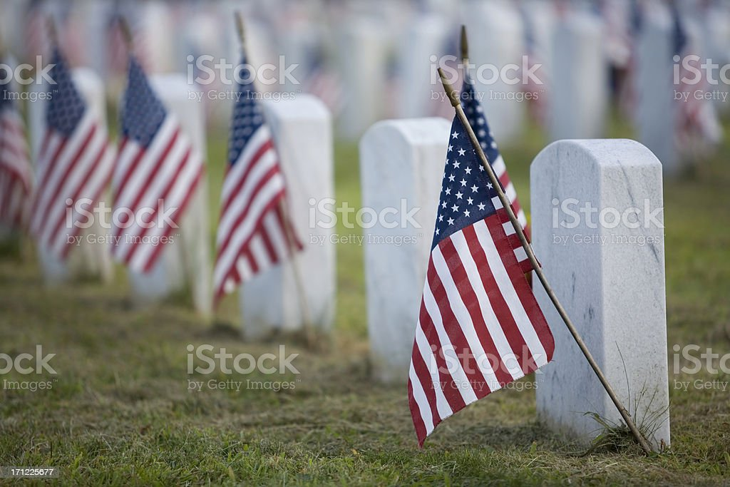 Flags for the Fallen royalty-free stock photo