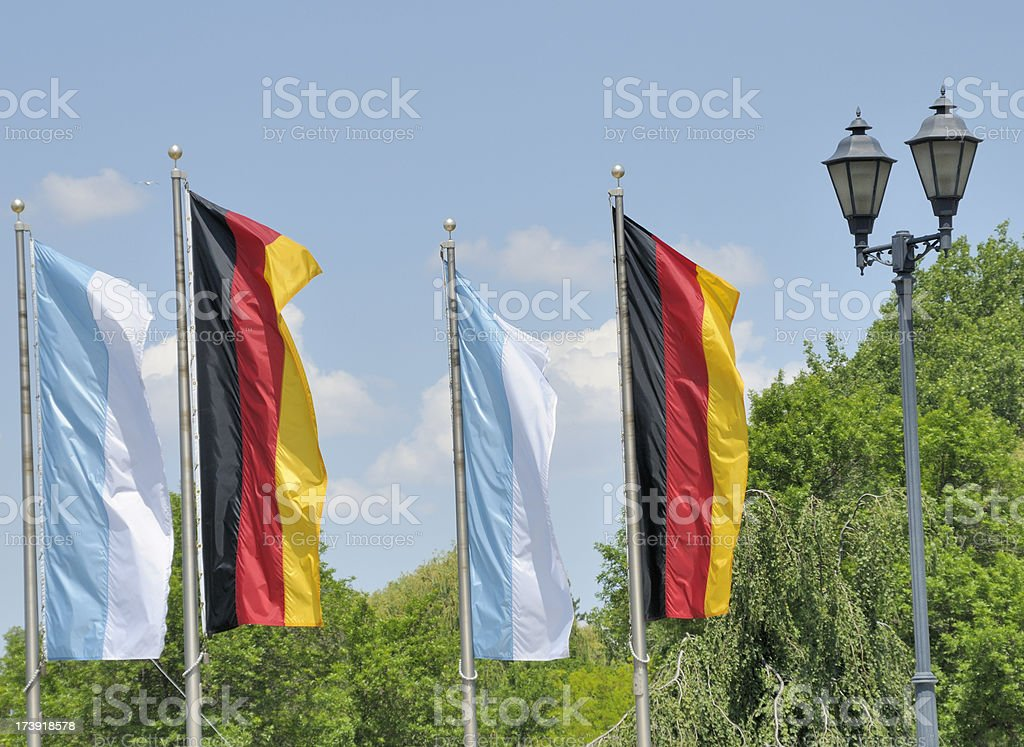 Flags, Frankenmuth, Michigan stock photo