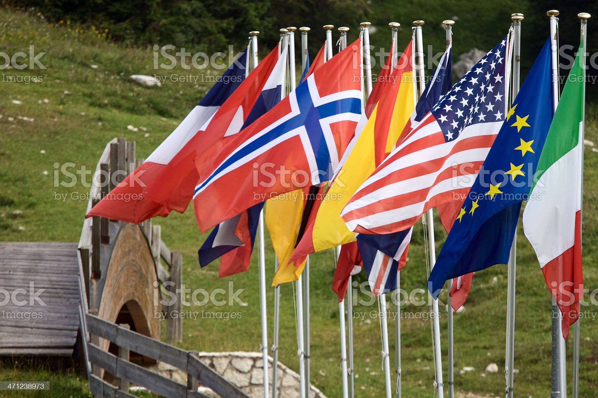 Flags from the world royalty-free stock photo