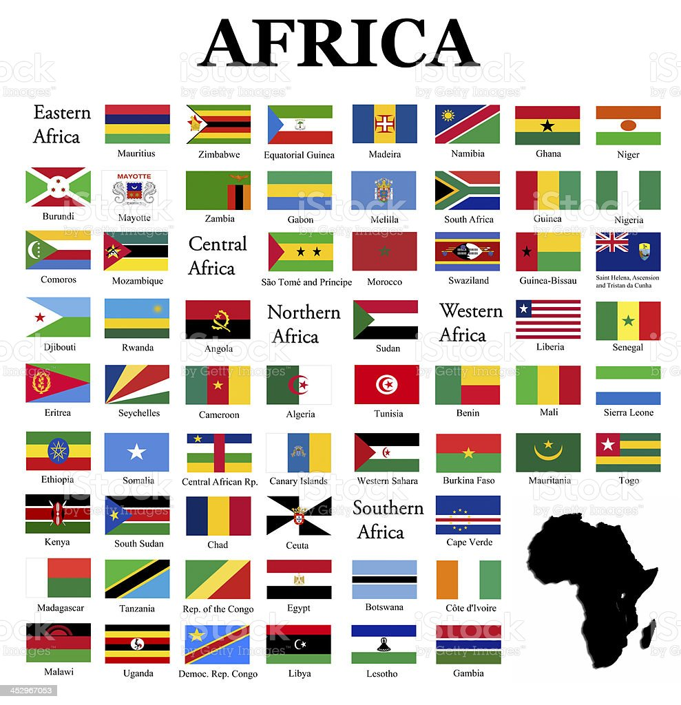Flags of Africa stock photo
