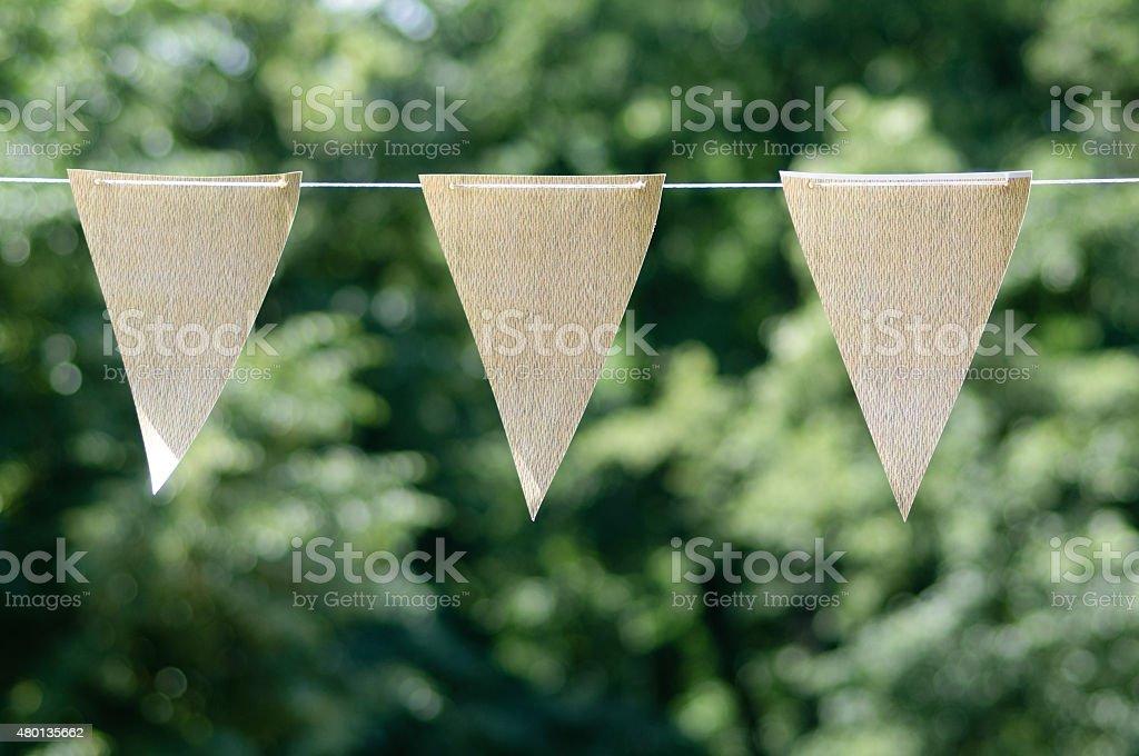Flags of celebration stock photo