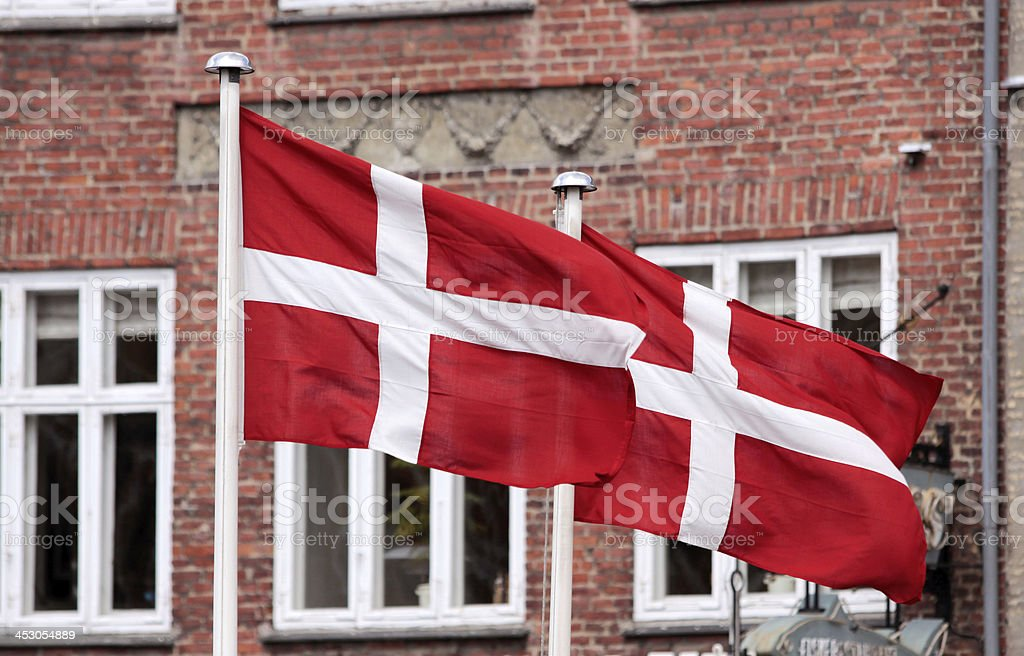 Flags of Denmark royalty-free stock photo