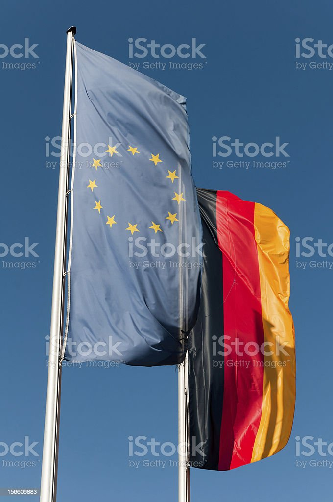 Flags of Europe and Germany royalty-free stock photo