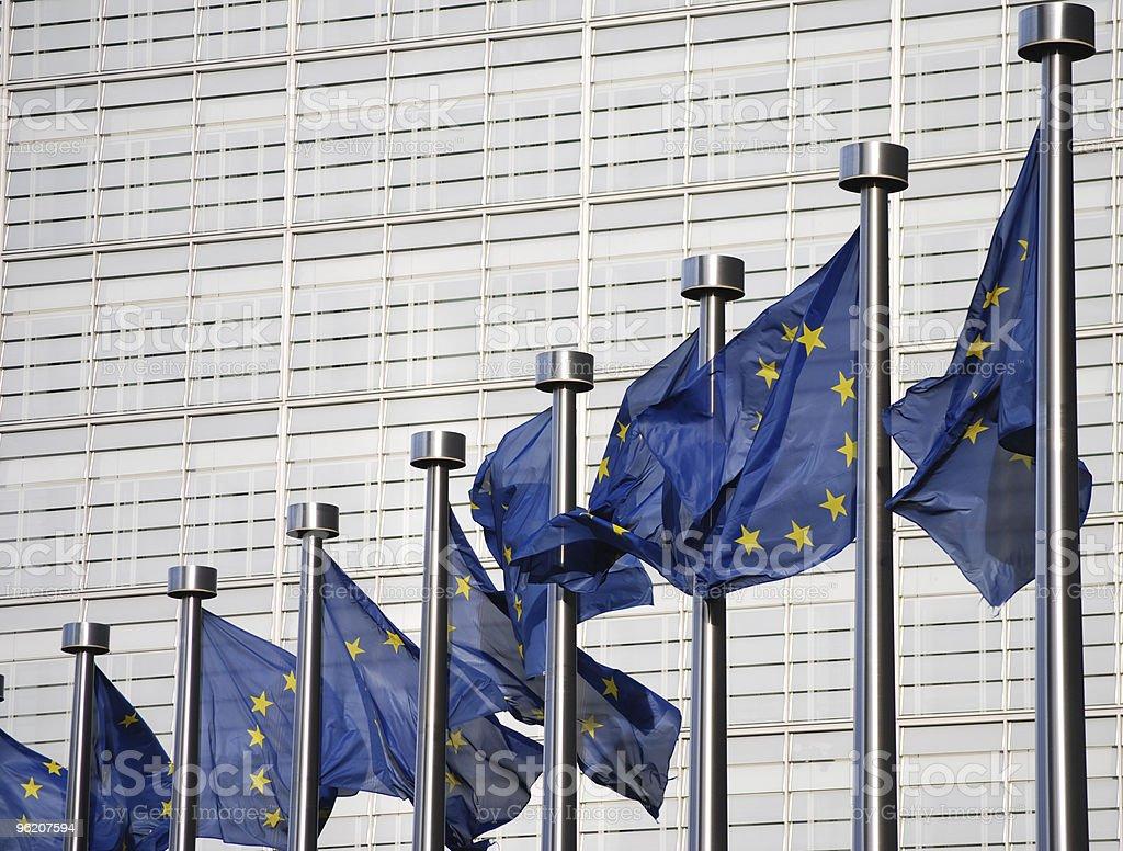 Bandeiras da União Europeia foto de stock royalty-free