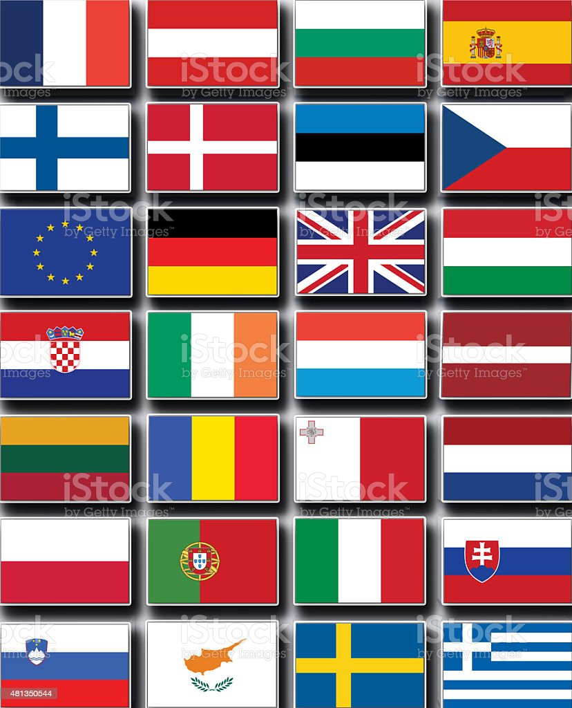 flags of the countries stock photo