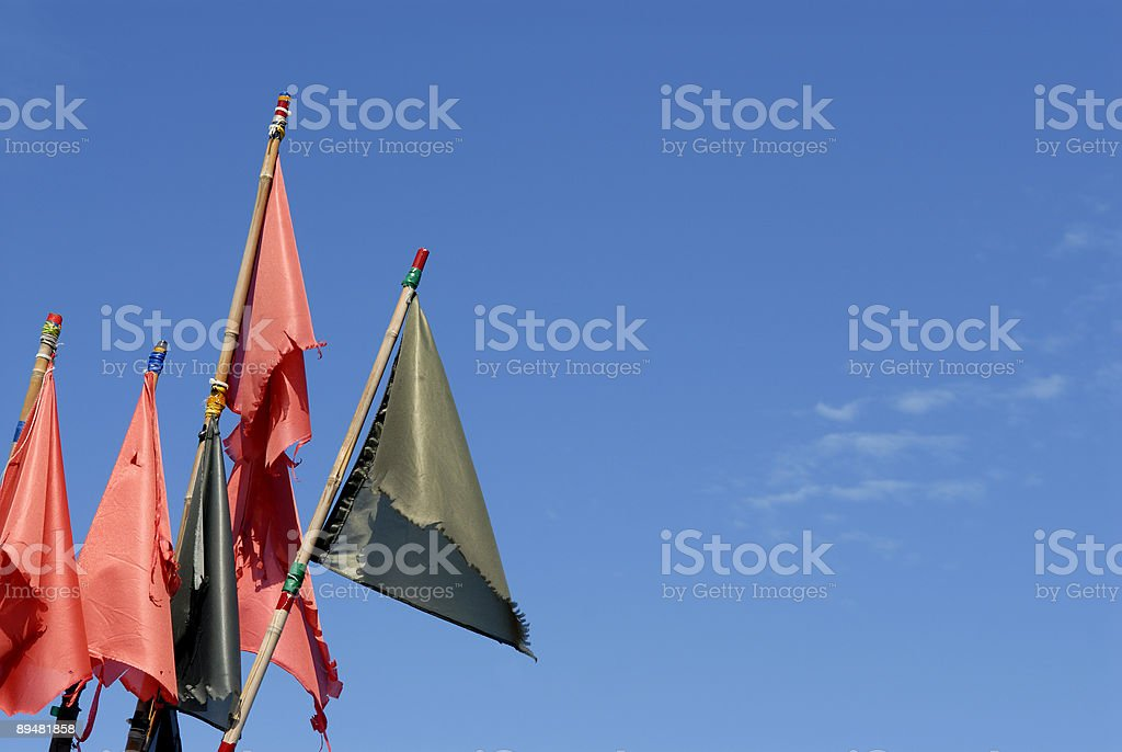Flags of the Fisherman stock photo