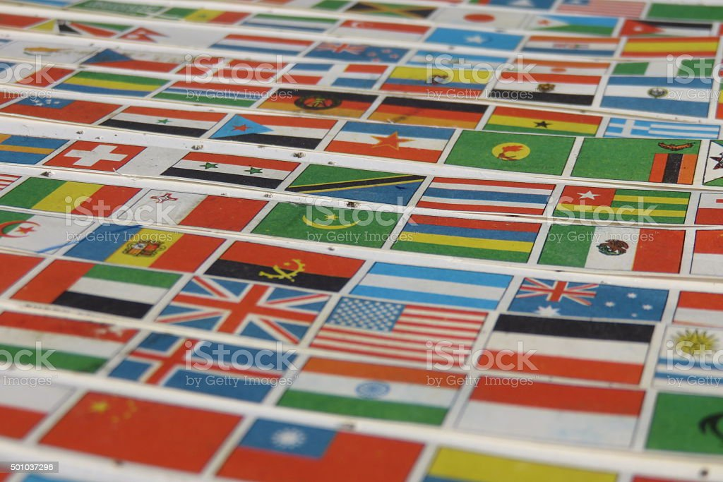 Flags of the World Background stock photo