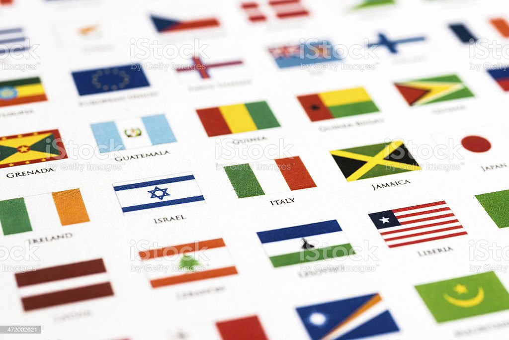 flags of the world Italy and his alphabetical neighbor stock photo